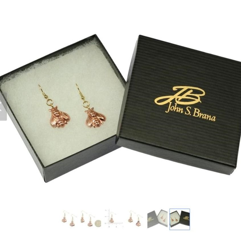 Copper Honey Bee Earrings Copper Bee Earrings Honeybee Etsy Honey Bee Earrings Copper Jewelry Handmade Bee Earrings