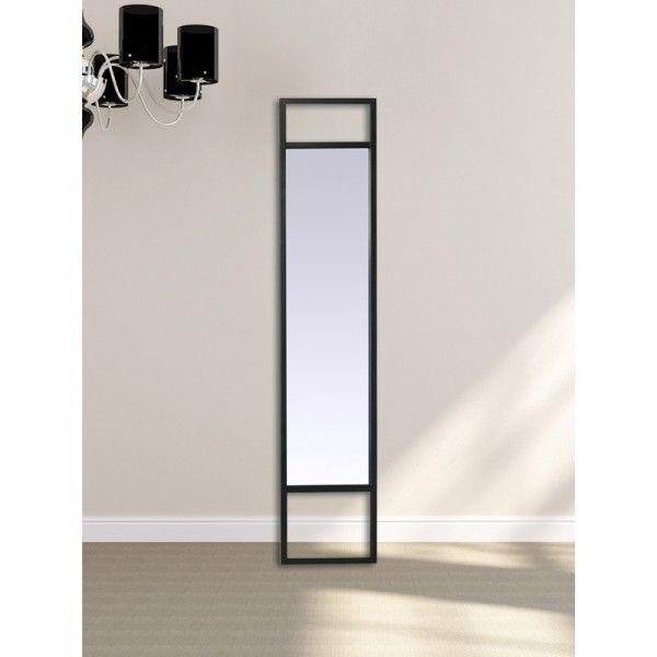 Miroir métal noir filaire Long miroir en métal noir, à poser au sol ...