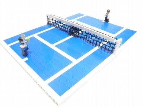 Tennis Court A Lego Creation By Armon Russ Tennis Court Lego Sports Lego