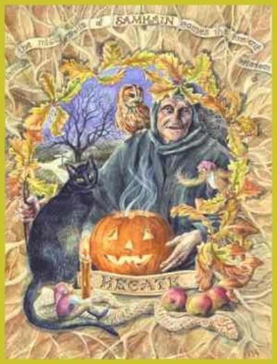 Halloween Afkomst.Samhain Lammas Lughnassadh Halloween Heksen Samhain
