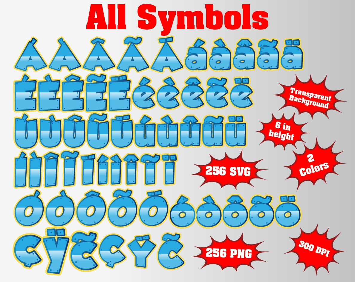 Paw Patrol Full Alphabet Numbers And Symbols 512 Png Svg 300