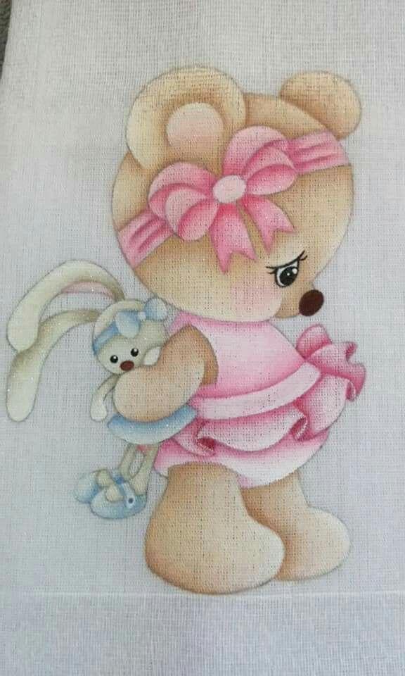 Ursinho a 9 proposta de pintura animales preciosos - Dibujos para pintar en tela infantiles ...