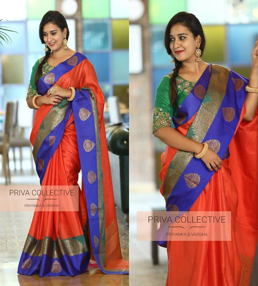 76087fd038 This silk saree trend that every one will wear this year – Artofit