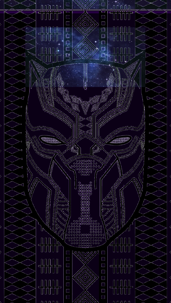 Black Panther Galaxy Lockscreen Blackpanther Wakanda Marvel Wallpaper