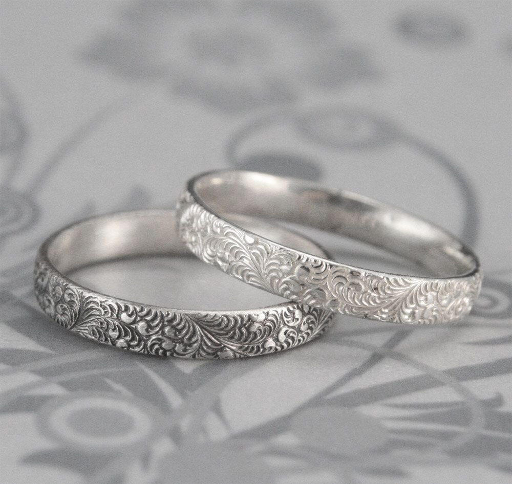 'Sterling Silver Feather Motif Band Ring I9GpRfaQ