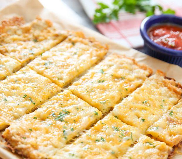 Cauliflower Breadsticks Recipe Food Recipes Cauliflower Bread