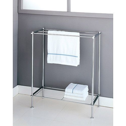 Neu Home Standing Towel Rack With Shelf Because There Is Nowhere
