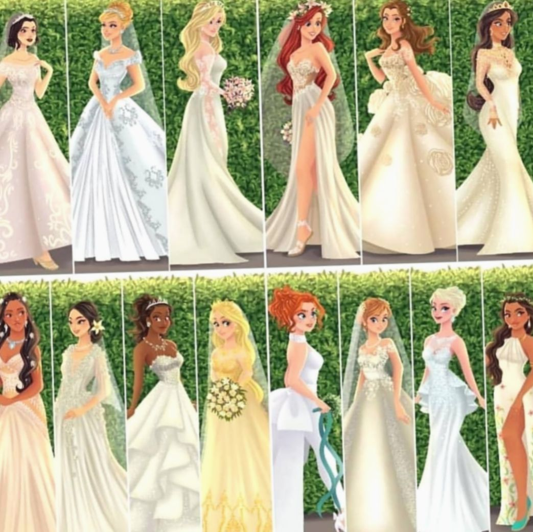 12 Fashion Dresses Drawing Disney Princess Disney Princess Wedding Dresses Disney Princess Wedding Disney Wedding Dresses [ 1040 x 1043 Pixel ]