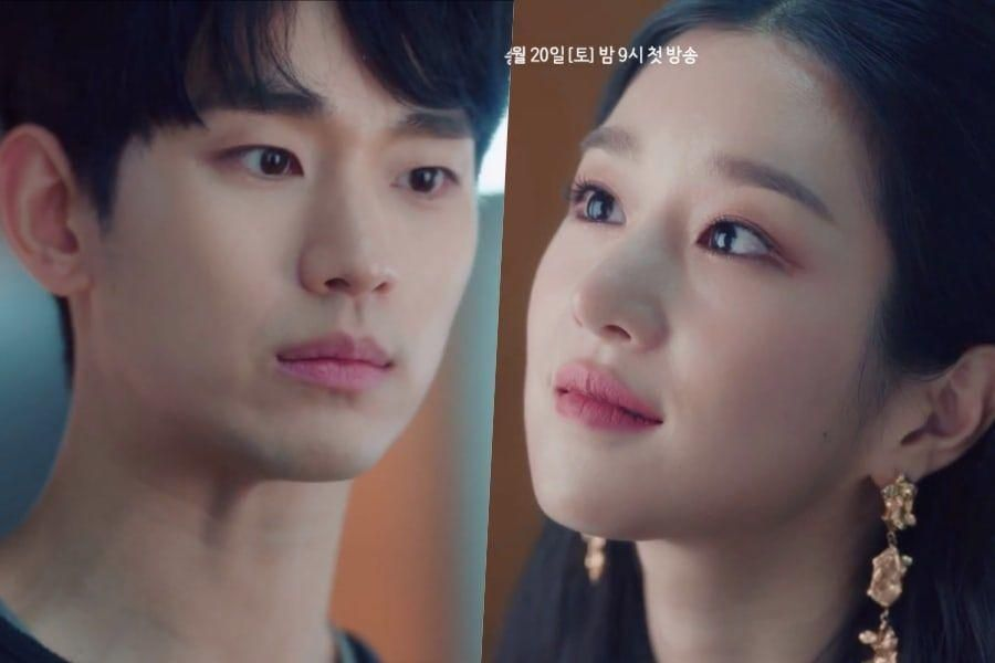 "Watch: Kim Soo Hyun + Seo Ye Ji See Past Each Other's Tough Acts In New Preview Of ""It's Okay To Not Be Okay"""