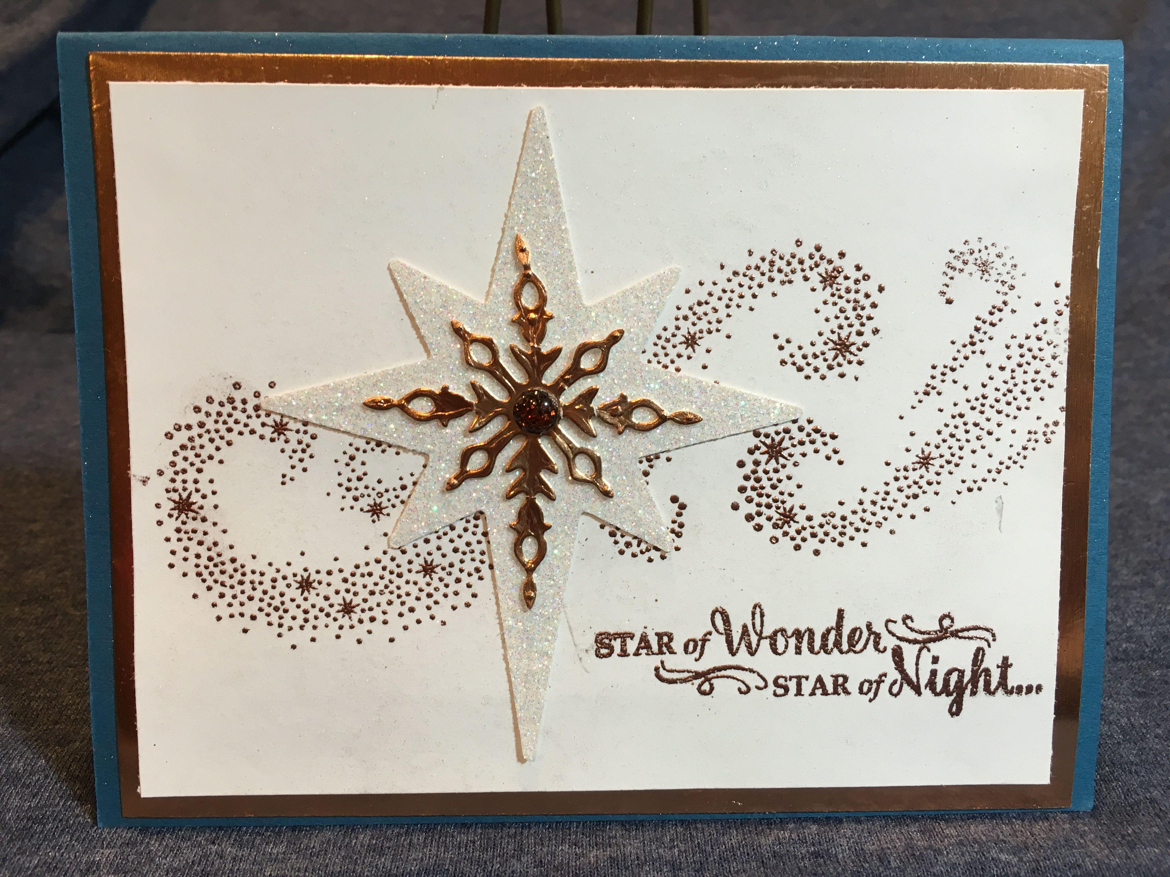 Starlight bundle Christmas card | Handmade cards | Pinterest ...