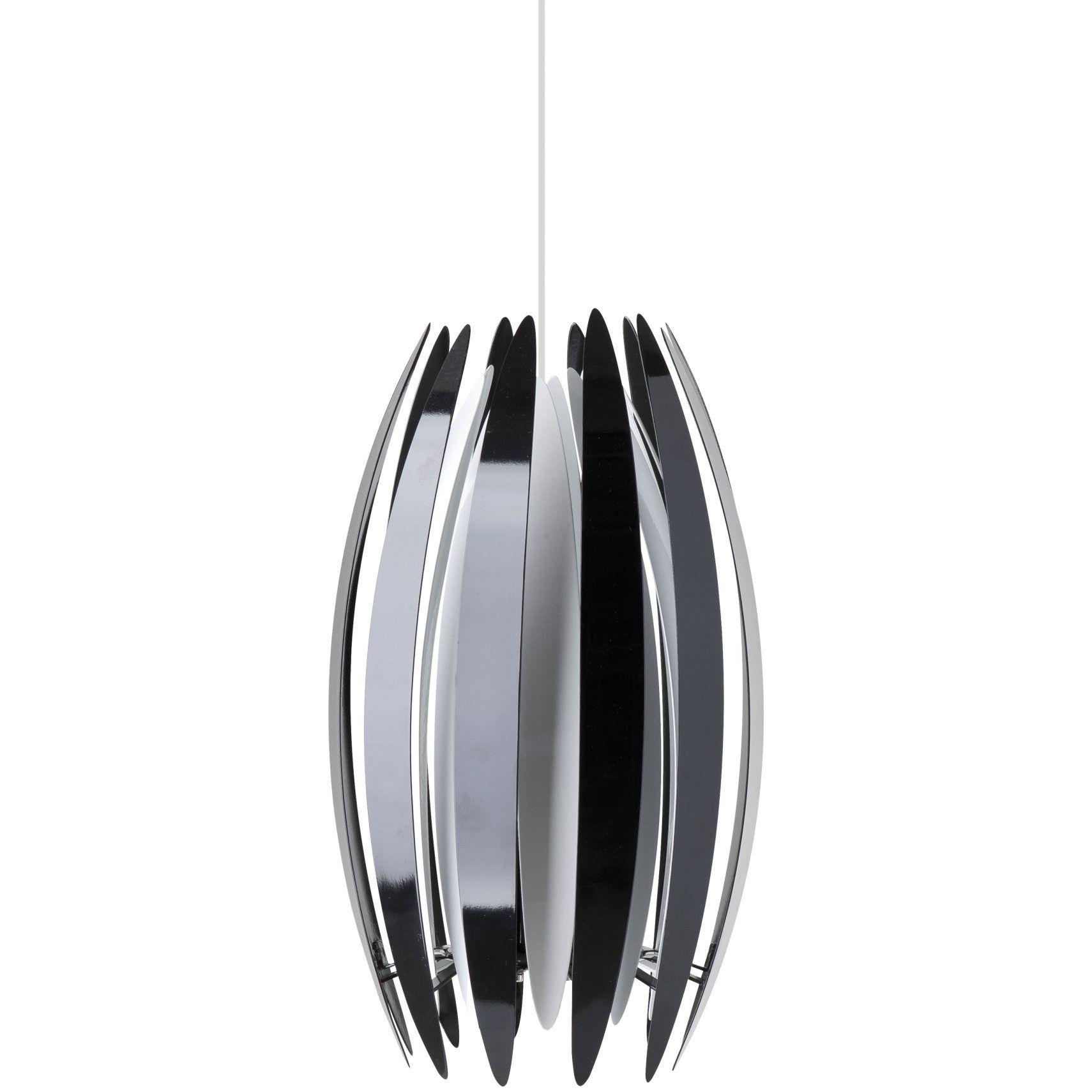 Pendel sort/hvid  Ø:26cm  H:39cm