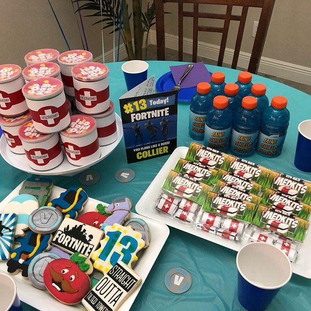 fortnite birthday fortnite birthday party ideas fortnite cookies fortnite party food - fortnite party favors ideas
