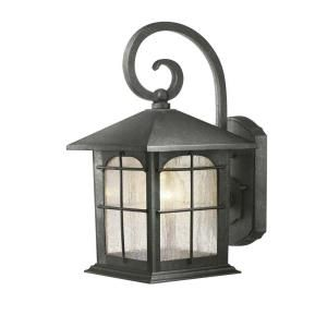 Charming Hampton Bay 1 Light Aged Iron Outdoor Wall Lantern