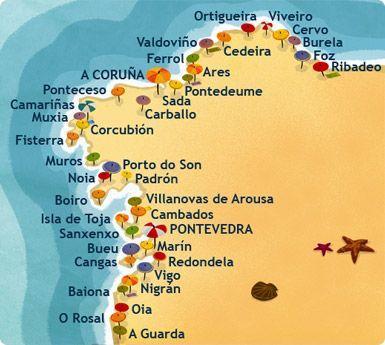 Costa De Galicia Mapa.Hoteles Costa De Galicia Tu Hotel En Centraldereservas Com