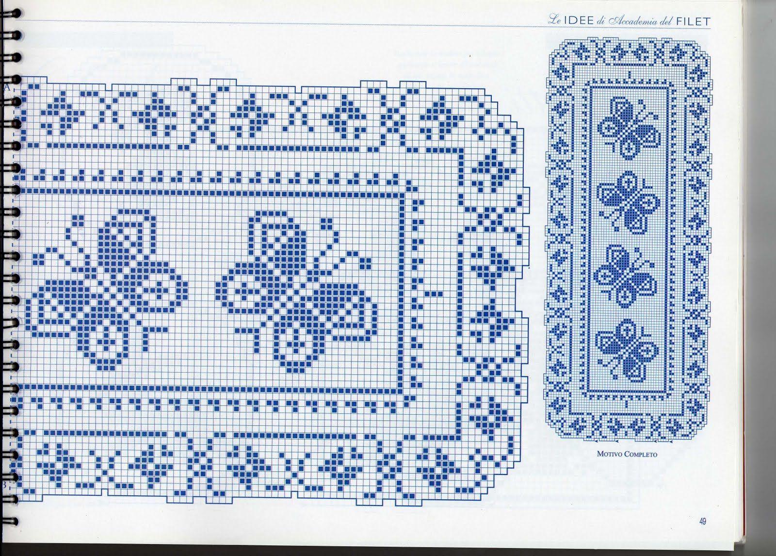 Butterflies table runner (2) - free cross stitch patterns crochet ...