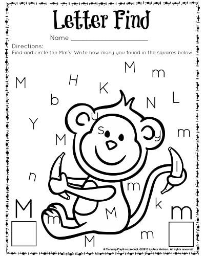 cute letter find worksheets with a freebie worksheets kindergarten and count. Black Bedroom Furniture Sets. Home Design Ideas