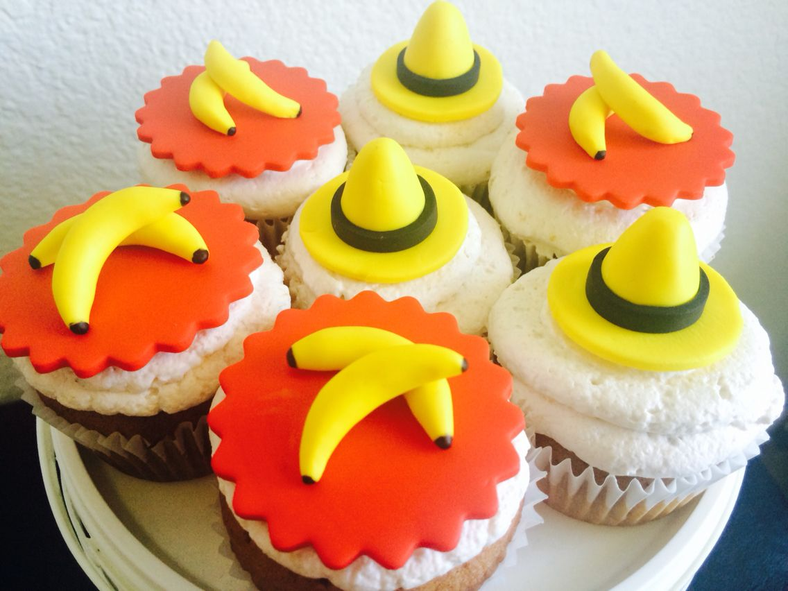 Krafty kidz center curious george coloring pages - Curious George Cupcakes Man In The Yellow Hat Cupcakes Banana Cupcakes