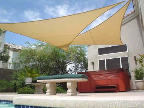 Sunbrella Fabrics Are Ideal For Making Best Shade Sails For Smaller Areas Users Can Shield Themselves From Both Sun And R Patio Shade Shade Sail Backyard Shade