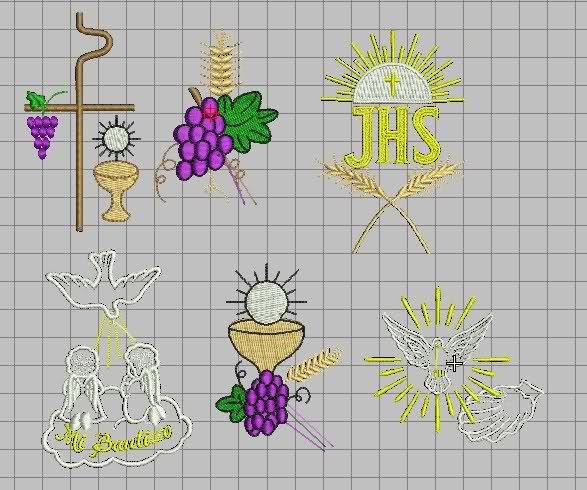 Dise os de bordados religiosos espigas uvas pax cristi for Disenos para bordar