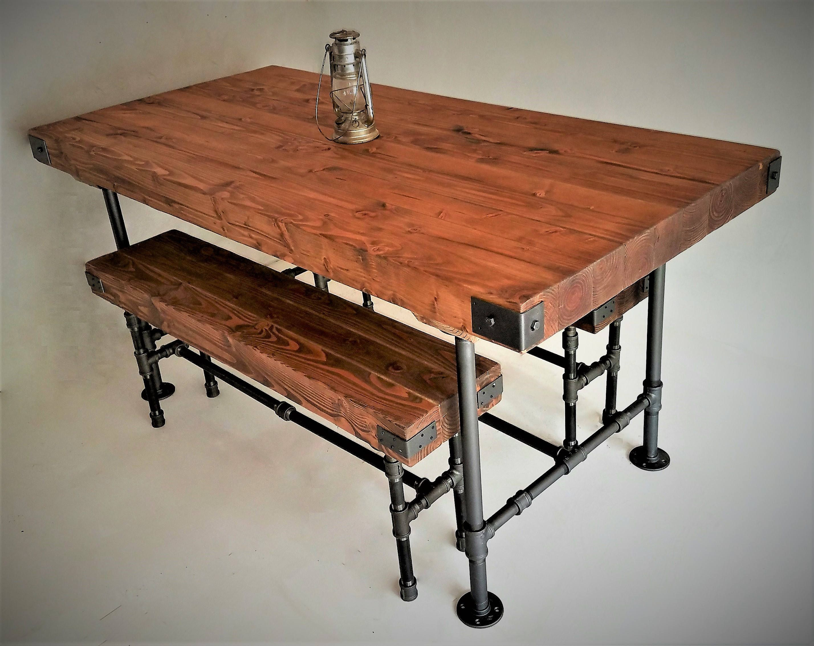 Fantastic Rustic Industrial Dining Table W Butcher Block Top And Pabps2019 Chair Design Images Pabps2019Com