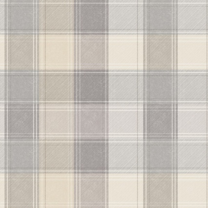 Country Check Wallpaper Grey Neutral Wallpaper Diy Wallpaper
