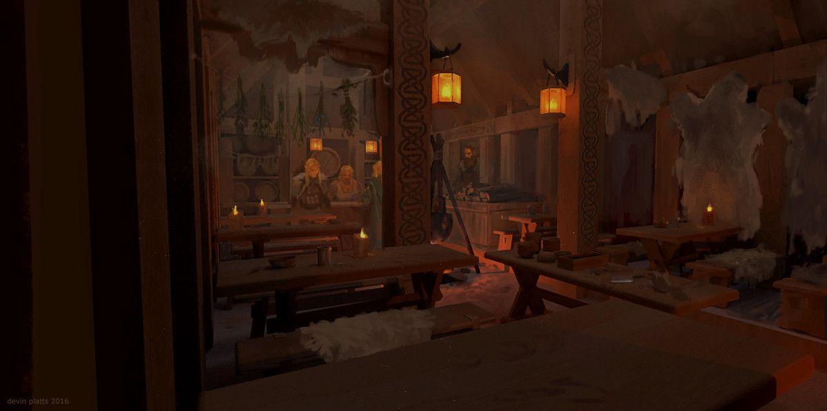 ArtStation - tavern, devin platts