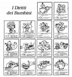 Schede didattiche inizia con o cerca con google schede didattiche learning italian infant for Maestra gemma diritti dei bambini