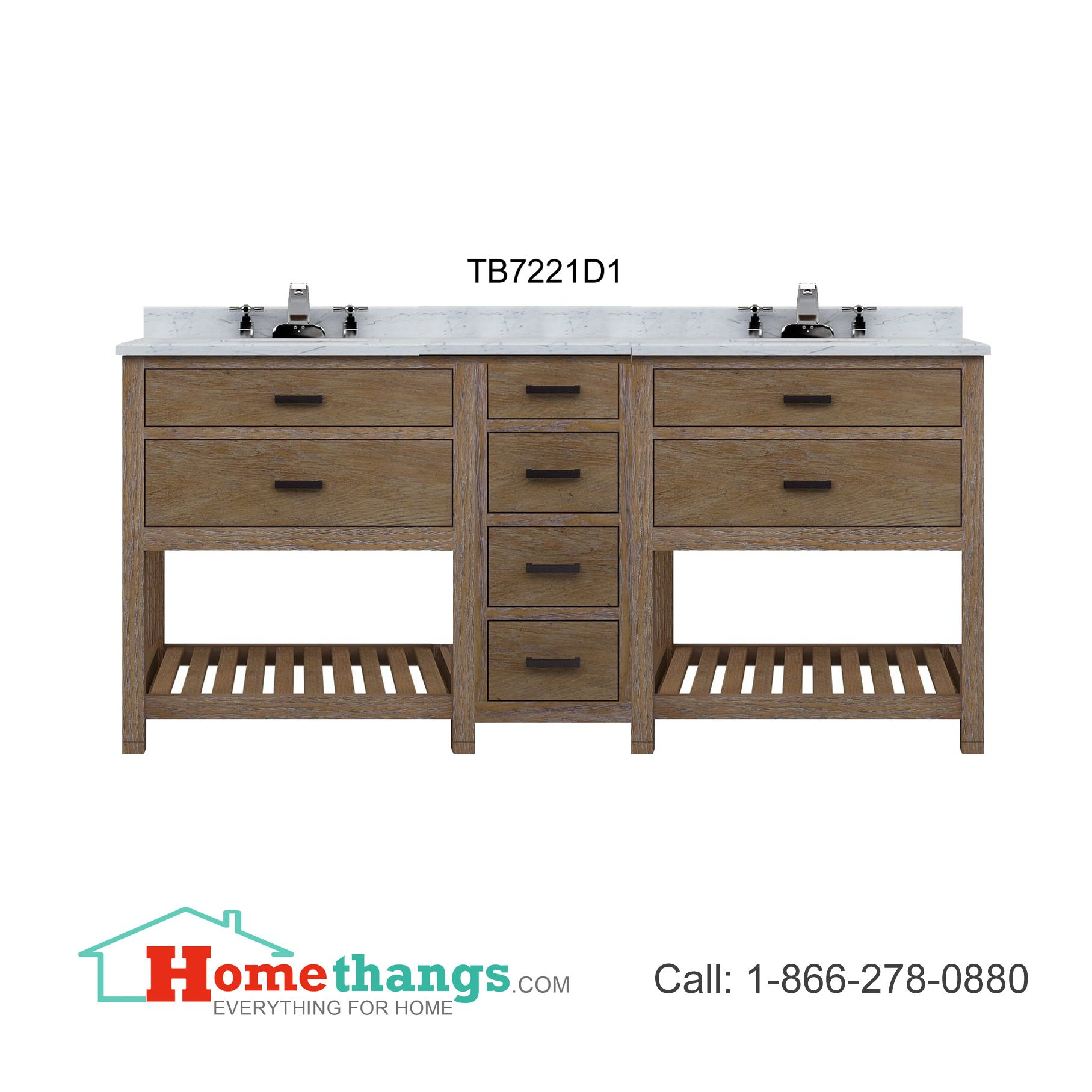Sagehill designs toby 72 modular double bathroom vanity with drawers no countertop tb7221d1 - Double sink vanity countertop ideas ...