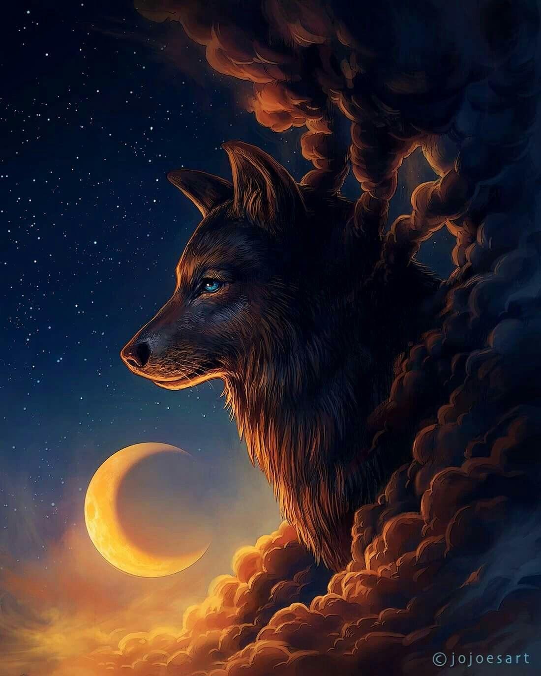 Amazing Wolf: Wolf Moon, Wolf, Fantasy Wolf