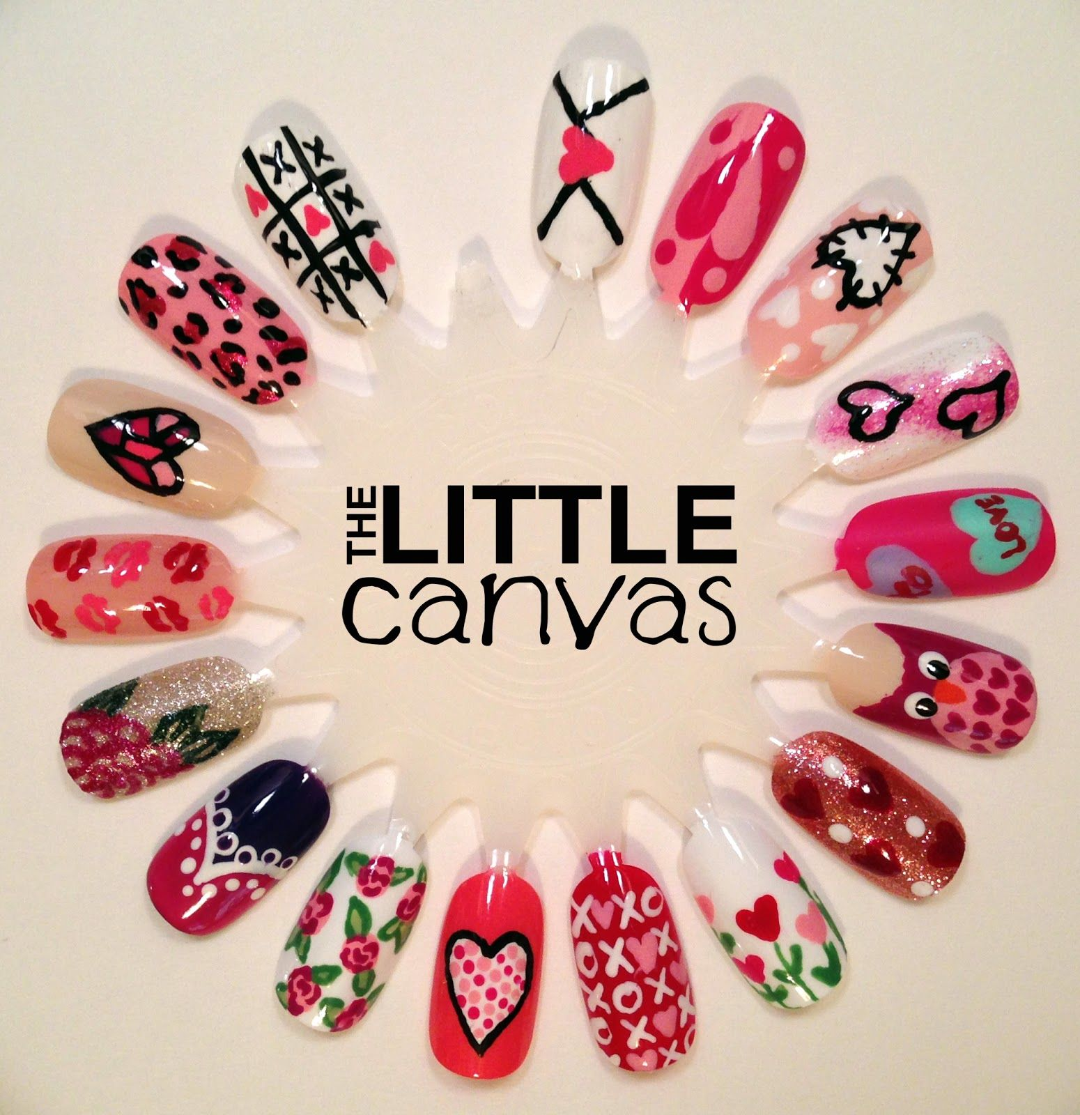 The Little Canvas: Valentines Day Nail Art Wheel | Holiday Nails ...