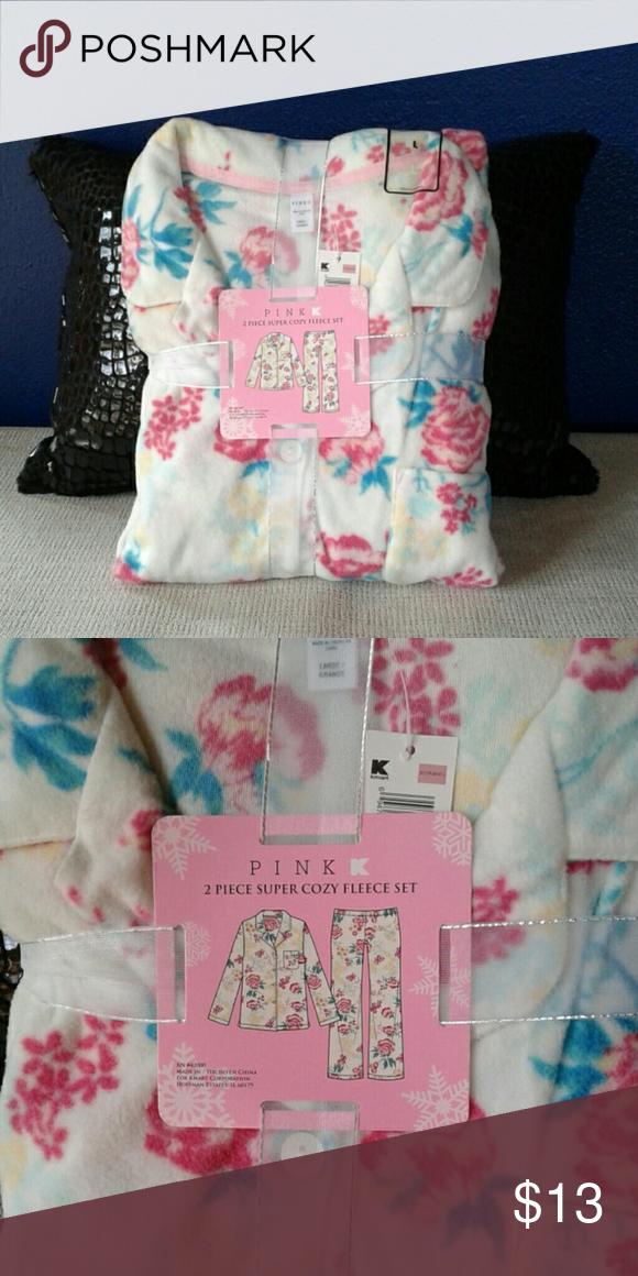 b04c6a0a9f9 NWT PINK K (KMART) 2 PIECE PAJAMAS NWT PINK K (KMART) 2 PIECE SUPER COZY  FLEECE SET. 100% Polyester. PINK K (KMART) Intimates   Sleepwear Pajamas