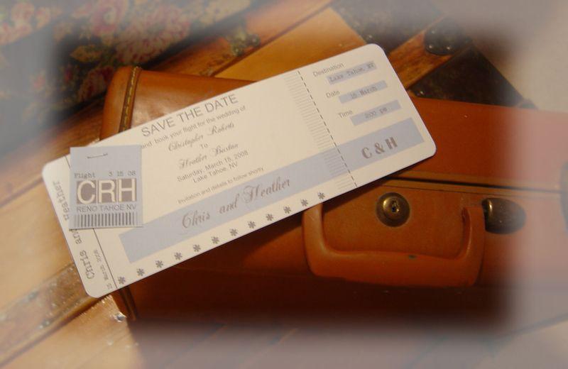 Vintage airline ticket