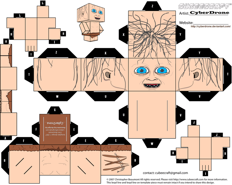 PaperToy_Gollum