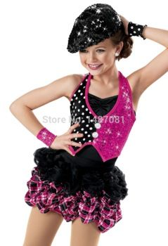 Famle Girls jazz dance costume Kids dance suit jazz