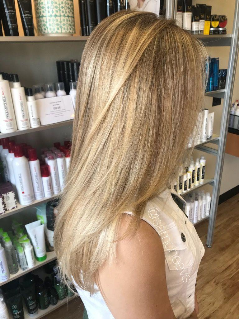 Natural Sunkissed Sandy Beige Blonde Hair Color Full Foil Color