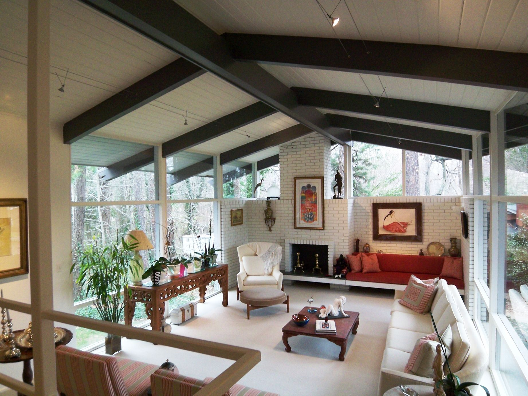 midcentury modern ceiling beams | Modern Charlotte, NC Homes For ...