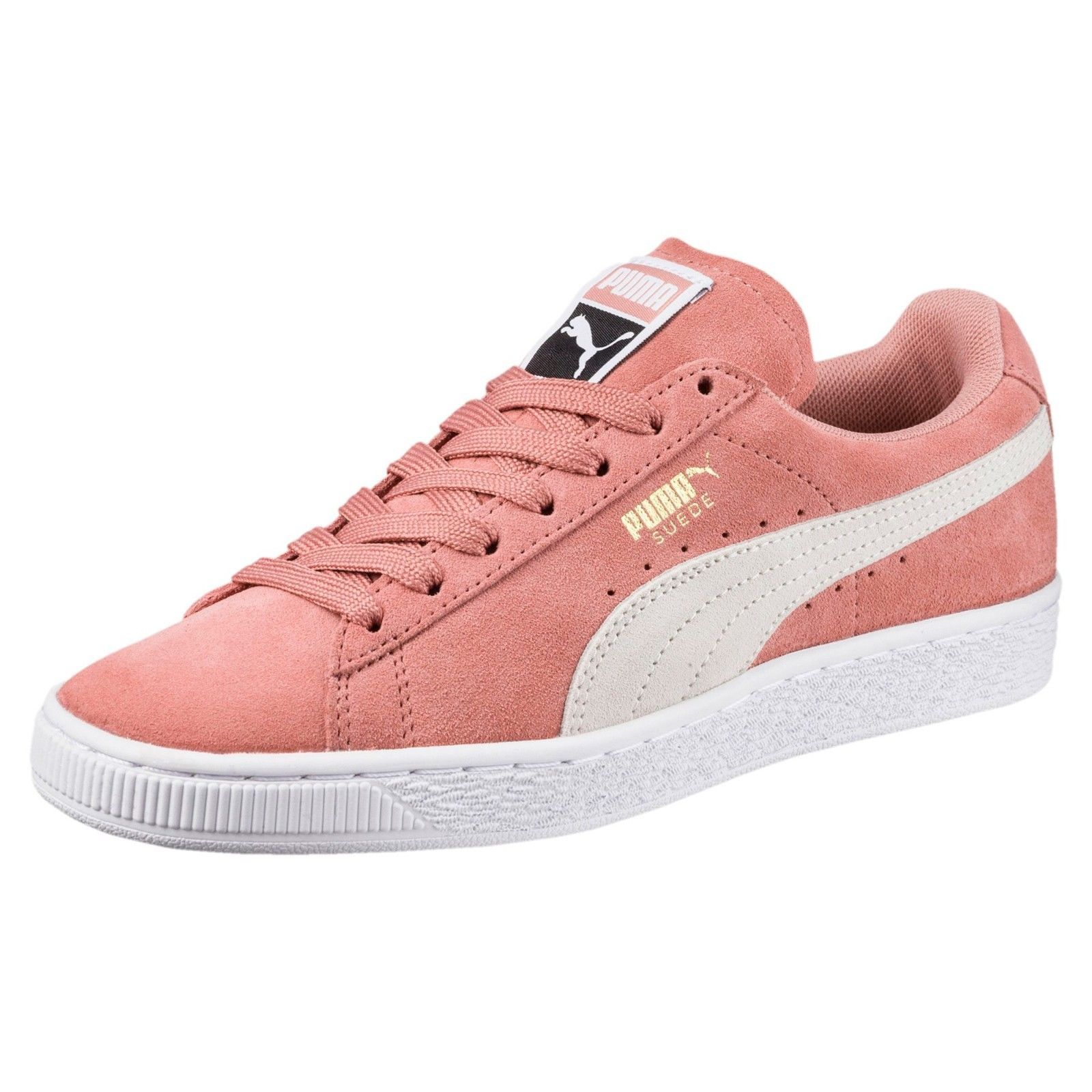 New Womens PUMA Suede Classic Low Sneaker 355462-56 Pink MSRP  65 ... a07be4eda0