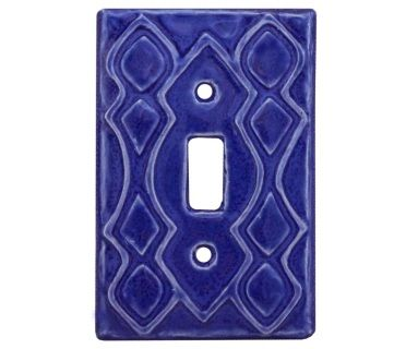 Moroccan Design Ceramic Art Light Switch Cover Sculpted By Artist Beth Sherman