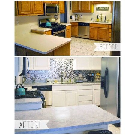 Before After White Diamond Kitchen Remodel Small Giani