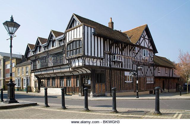Southampton tudor house hampshire stock image