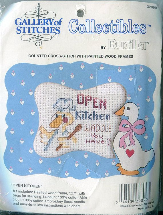 Open Kitchen 3 X 5 Counted Cross Sch Kit By Pengypatterns