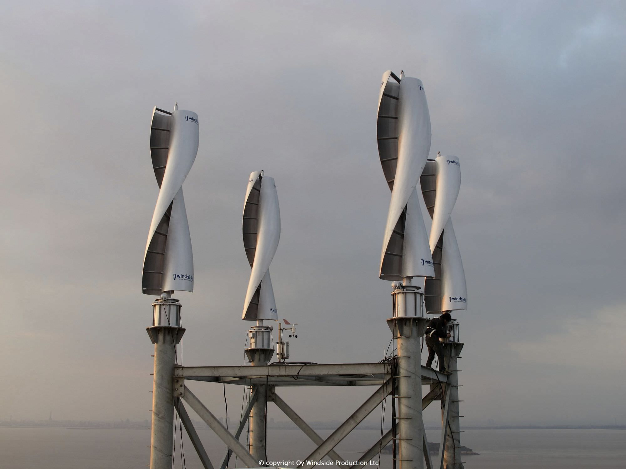 Small vertical axis wind turbine (helical Savonius rotor) - WS-4