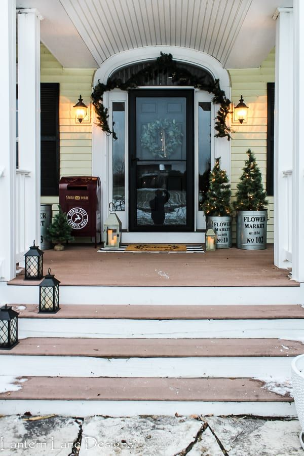 Christmas decorating ideas for your front porch decor diy home also rh pinterest