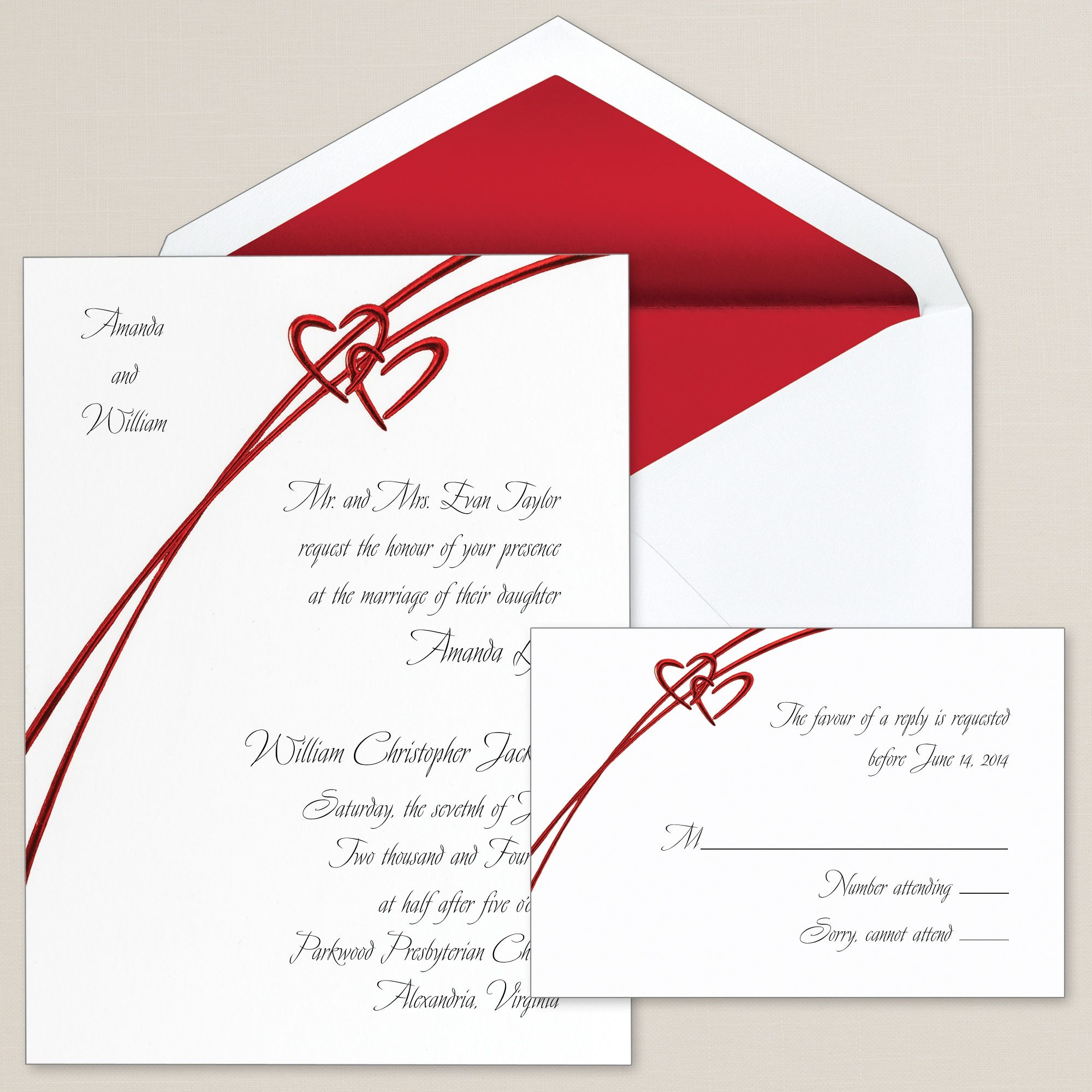 Soaring Hearts Wedding Invitation | #exclusivelyweddings | vow ...