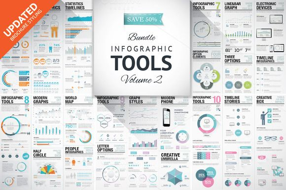 45%OFF Infographic Elements Bundle 2 by MPF Design on Creative Market