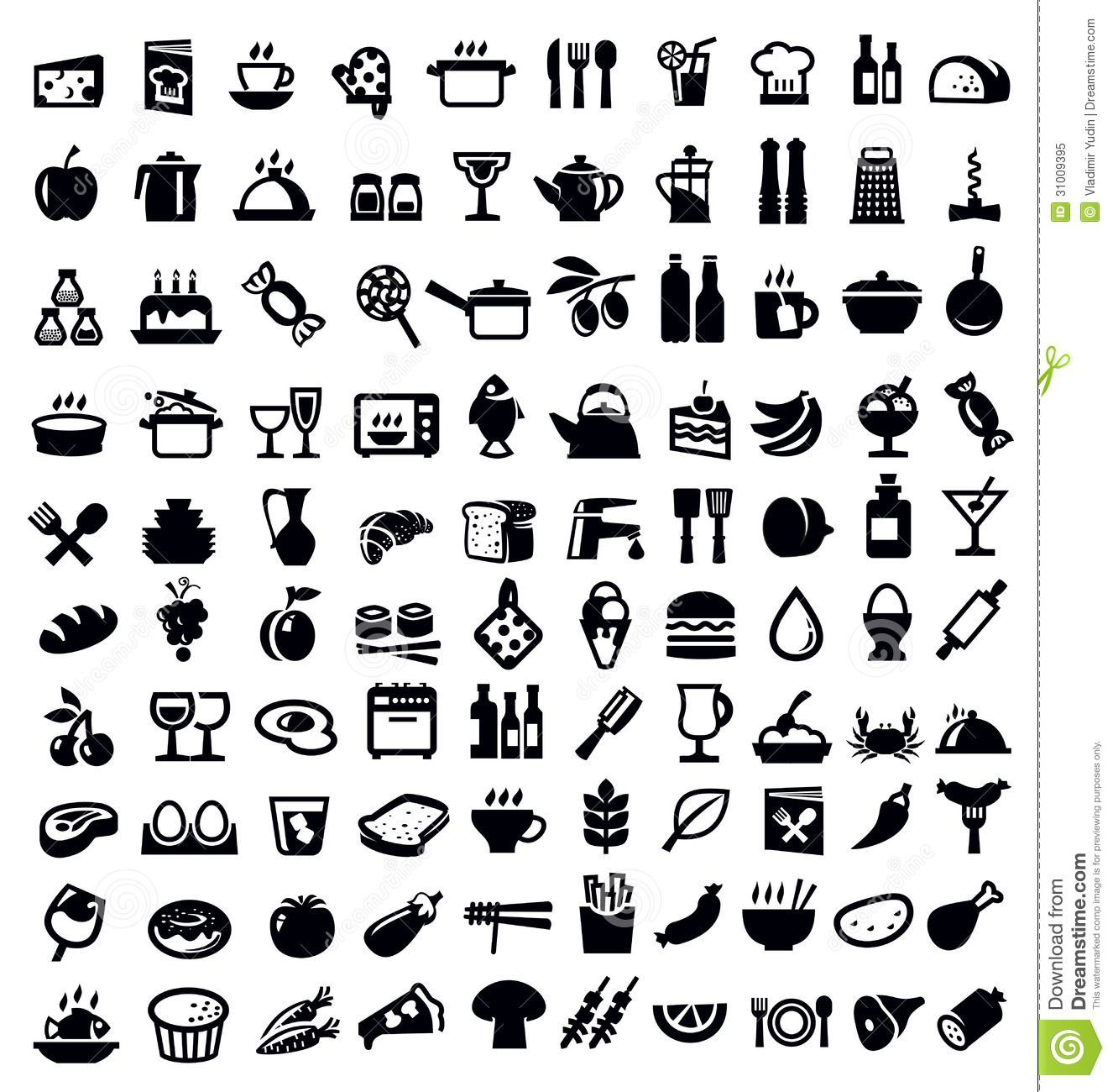 free food icons Google Search in 2020 Food icons