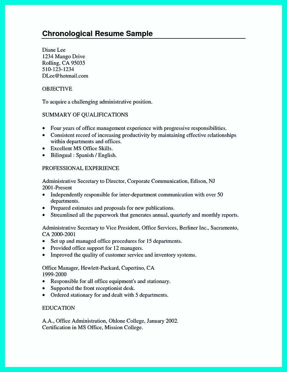 good resume summary for college student