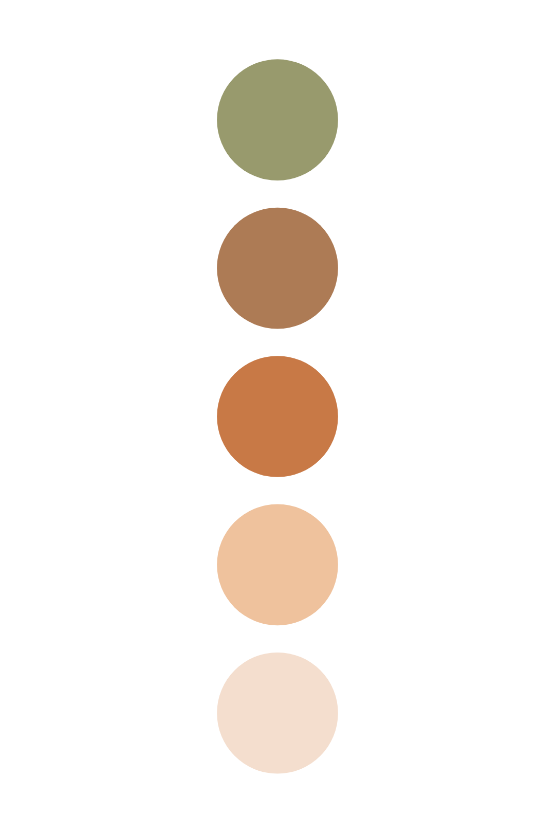 Photo of Green & Brown Boho Color Palette – Warm Earthy Vibes