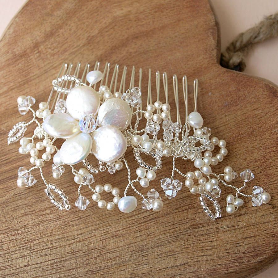 antique lace pearl bridal hair comb   antique lace, hair combs and
