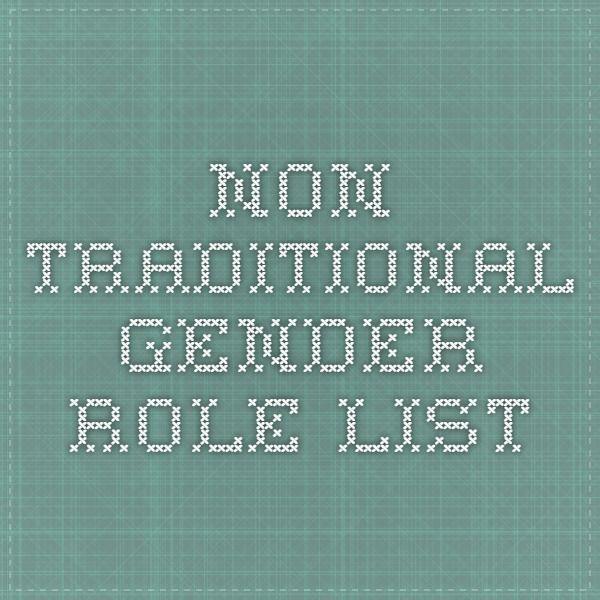 Non Traditional Gender Roles Booklist Gender Role Gender Gender Roles